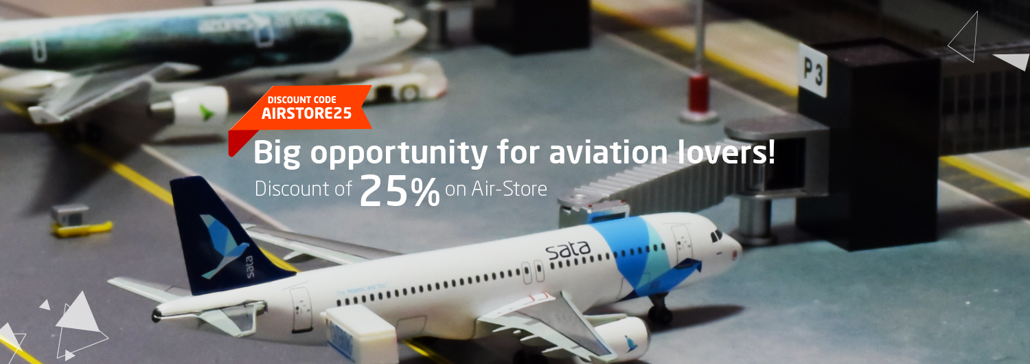 Big opportunity for aviation lovers! Discount of 25% on Air-Store. Promo Code: AIRSTORE25