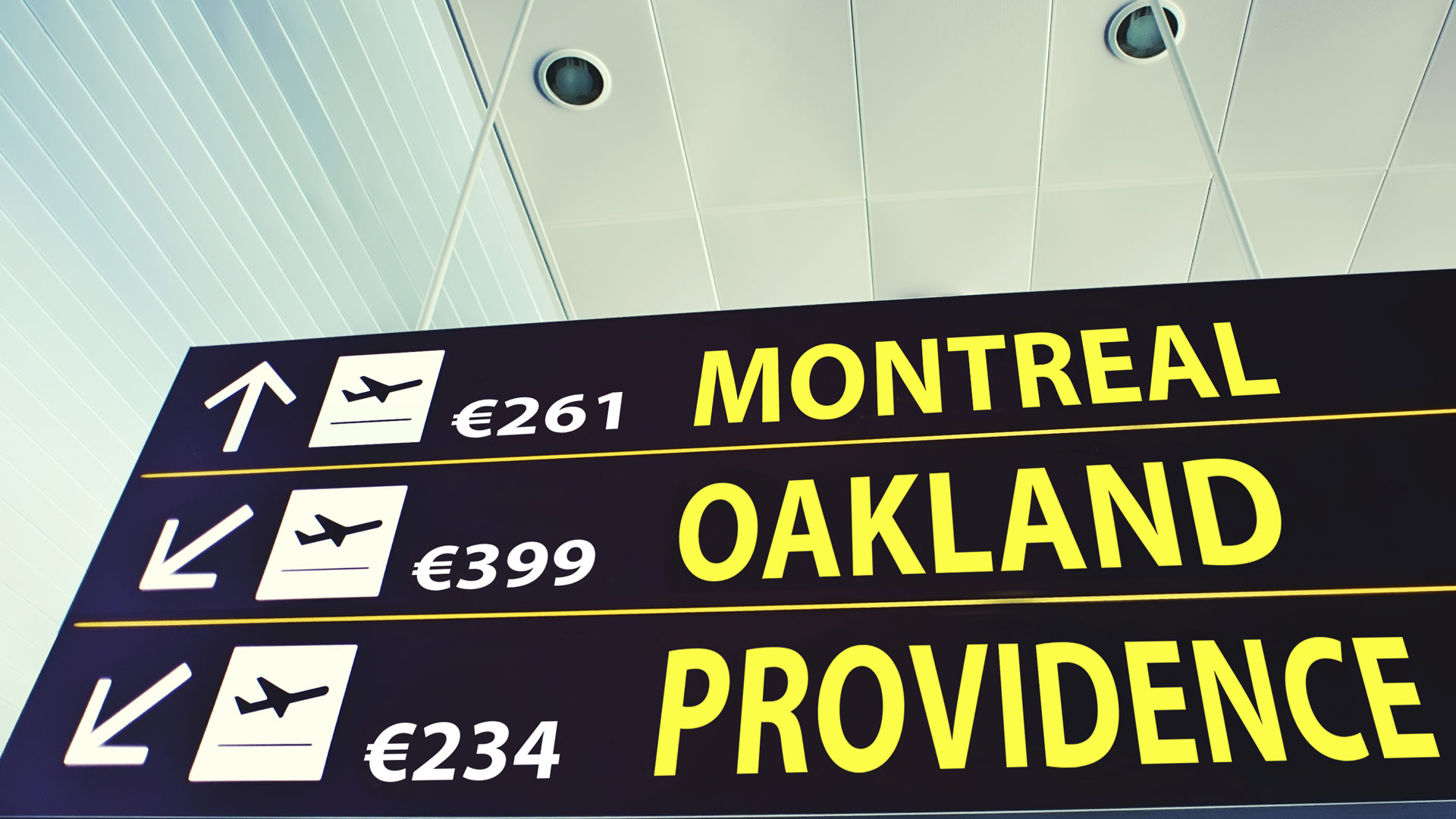 €261 Montreal; €399 Oakland; €234 Providence.