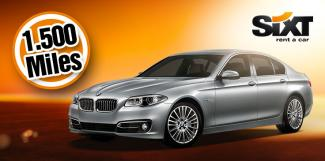 Earn 1.500 Miles with Sixt