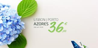 Lisbon | Porto - Azores, one way from 36€